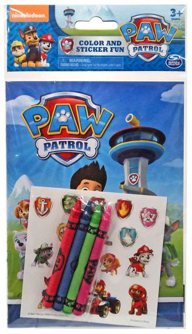 Paw Patrol Color and Sticker Fun Set