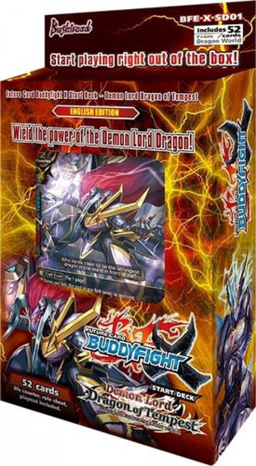 Future Card BuddyFight Trading Card Game Demon Lord Dragon of Tempest Starter Deck