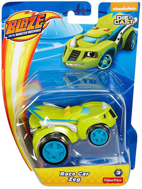 Fisher Price Blaze & the Monster Machines Nickelodeon Race Car Zeg Diecast Car