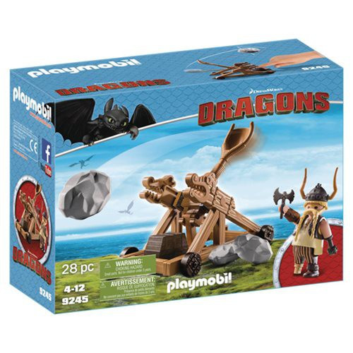 Playmobil Dragons How to Train Your Dragon Gobber with Catapult Set #9245