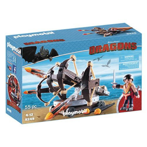 Playmobil Dragons How to Train Your Dragon Eret with 4 Shot Fire Ballista Set #9249