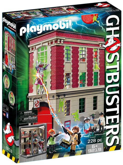 Playmobil Ghostbusters Firehouse Set #9219