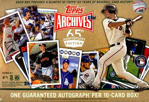 MLB Topps Archives Baseball Cards 65th Anniversary Edition Trading Card BLASTER Box