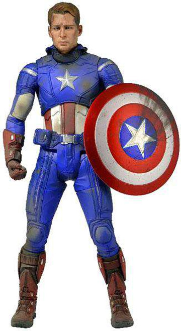 NECA Marvel Avengers Quarter Scale Captain America Action Figure [Battle Damaged]