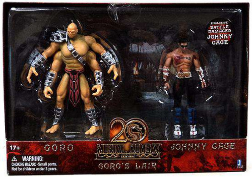 Mortal Kombat 20th Anniversary Goro's Lair Action Figure 2-Pack [Damaged Package]