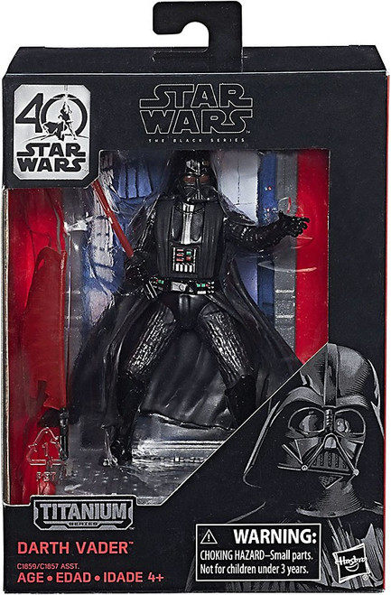 Disney Star Wars A New Hope 40th Anniversary Black Titanium Series 1 Darth Vader Die Cast Action Figure