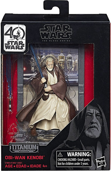 Disney Star Wars A New Hope 40th Anniversary Black Titanium Series 1 Obi Wan Kenobi Die Cast Action Figure