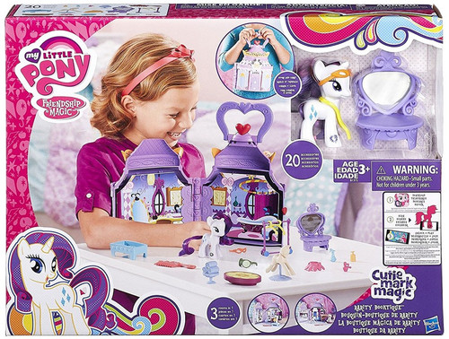 My Little Pony Friendship is Magic Explore Equestria Rarity Booktique Playset