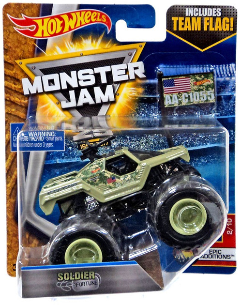 Hot Wheels Monster Jam 25 Soldier Fortune Diecast Car #2/10 [Epic Additions]