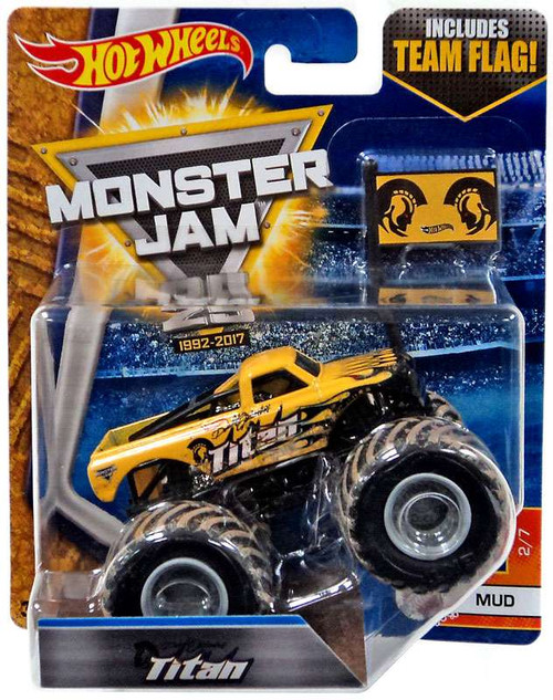 Hot Wheels Monster Jam 25 Titan Die-Cast Car #2/7 [Mud]