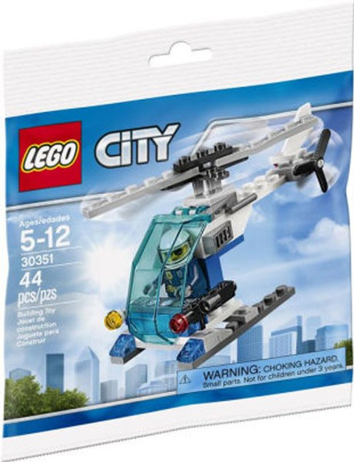 LEGO City Police Helicopter Mini Set #30351 [Bagged]