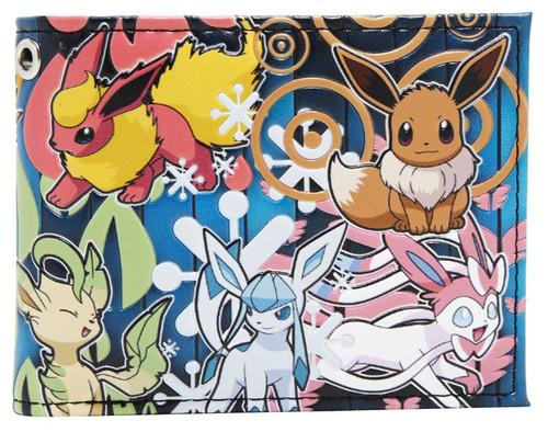 Pokemon Eevee Evolutions Toss Print Bifold Exclusive Wallet