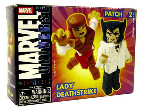 Marvel Universe Minimates Series 9 Patch & Lady Deathstrike Minifigure 2-Pack [Wolverine]