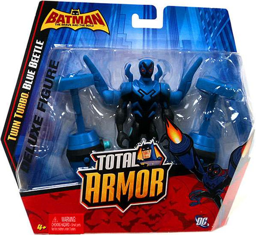 Batman Brave and the Bold Total Armor Twin Turbo Blue Beetle Action Figure