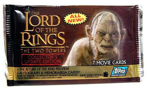 Lord of the Rings Topps Collector's Update Edition The Two Towers Trading Card Pack [7 Cards]