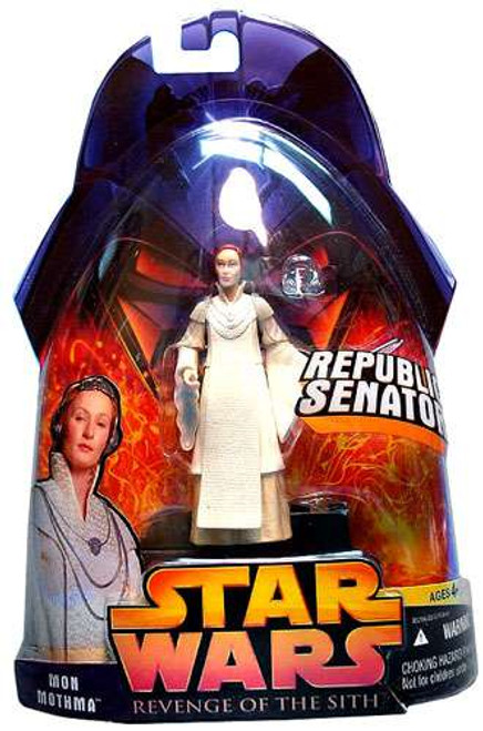 Star Wars Revenge of the Sith 2005 Mon Mothma Action Figure #24 [Damaged Package]
