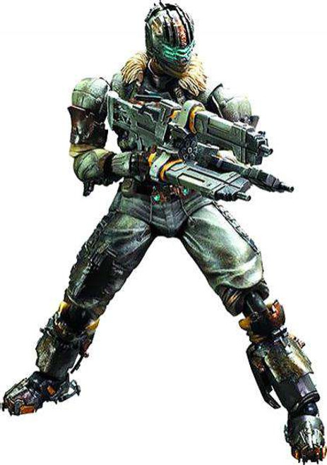 Dead Space 3 Play Arts Kai Isaac Clarke Action Figure [Damaged Package]
