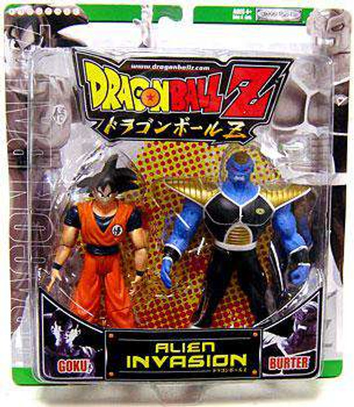 Dragon Ball Z Alien Invasion Goku vs. Burter Action Figure 2-Pack [Green Package, Damaged Package]