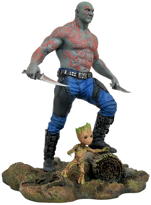 Marvel Guardians of the Galaxy Vol. 2 Drax & Baby Groot 9-Inch PVC Figure (Pre-Order ships May)