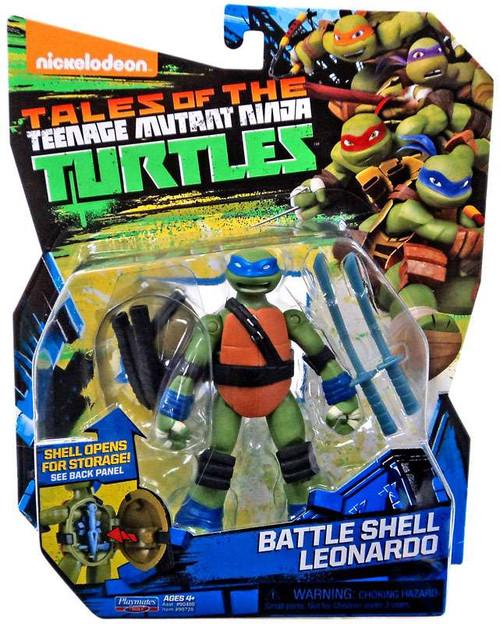 Teenage Mutant Ninja Turtles Tales of the TMNT Battle Shell Leonardo Action Figure