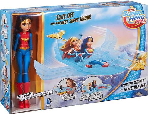 DC Super Hero Girls Wonder Woman & Invisible Jet Playset [Damaged Package]
