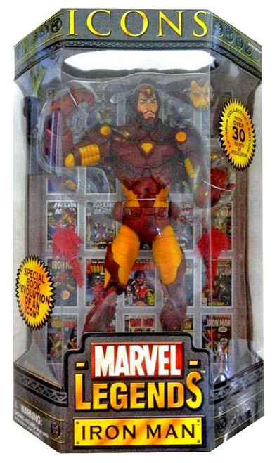 Icons Marvel Legends Iron Man Deluxe Action Figure [Damaged Package]
