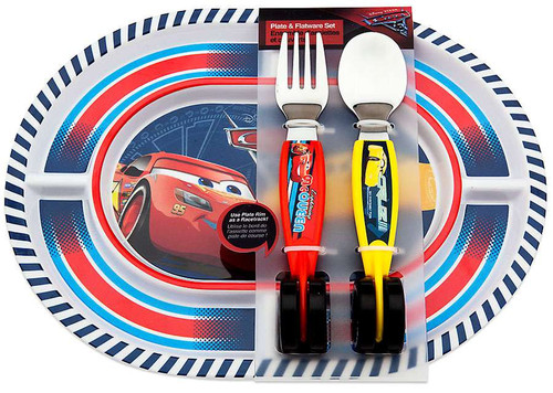 Disney / Pixar Cars Cars 3 Plate and Flatware Exclusive Set