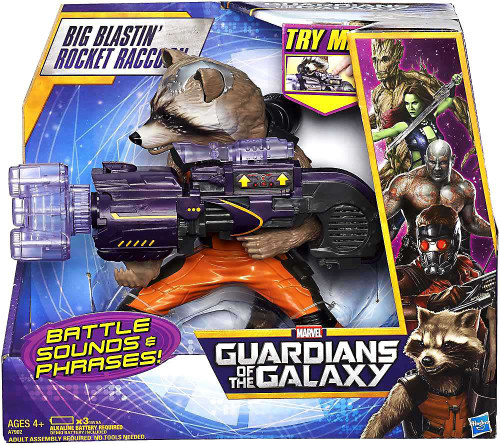 Marvel Guardians of the Galaxy Big Blastin Rocket Raccoon Action Figure [Damaged Package]