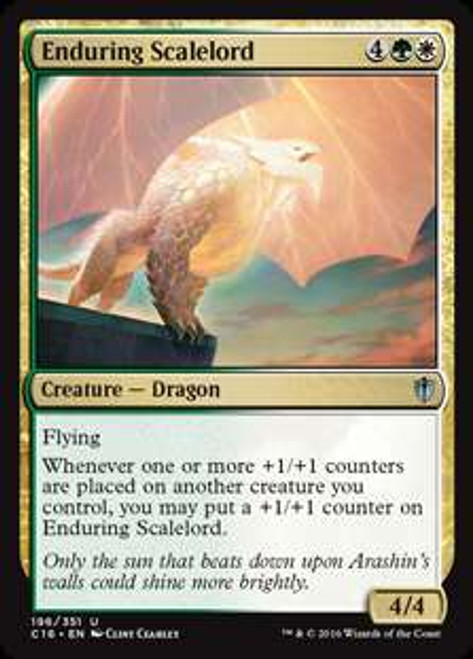 MtG Commander 2016 Uncommon Enduring Scalelord #196