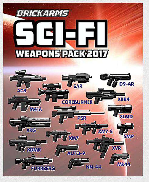 BrickArms Sci-Fi Pack 2017 2.5-Inch Weapons Pack