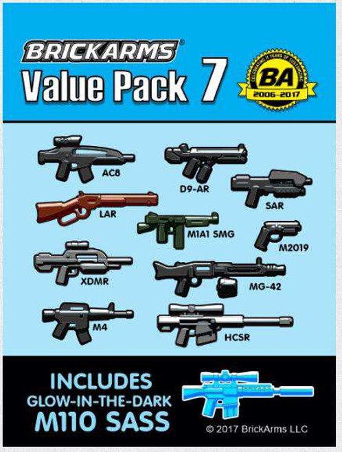 BrickArms Value Pack 7 2.5-Inch Weapons Pack