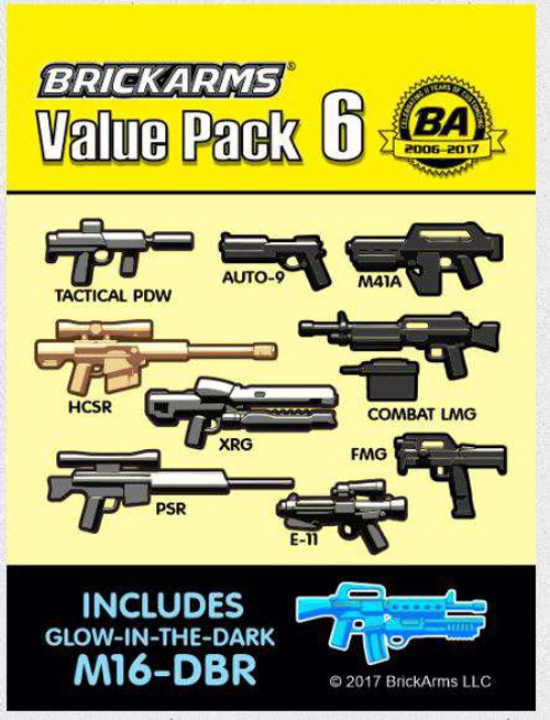 BrickArms Value Pack 6 2.5-Inch Weapons Pack