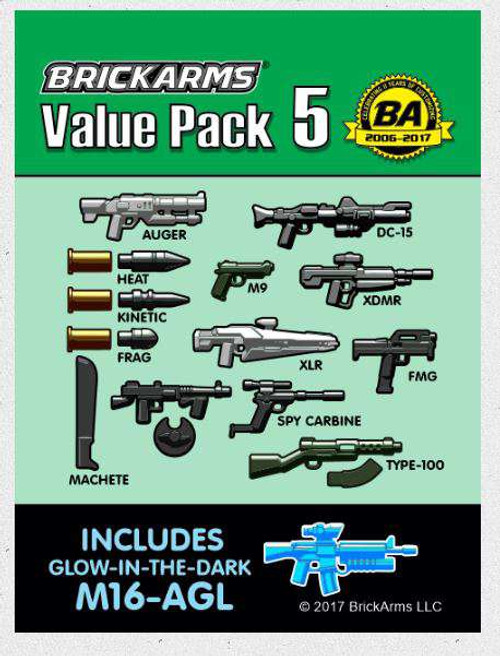 BrickArms Value Pack 5 2.5-Inch Weapons Pack