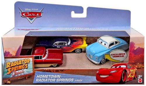 Disney / Pixar Cars 1944 Hollismobile, Old School Ramone & Emerycraft Yellow Zinger Exclusive Diecast Car 3-Pack [Hometown Radiator Springs]