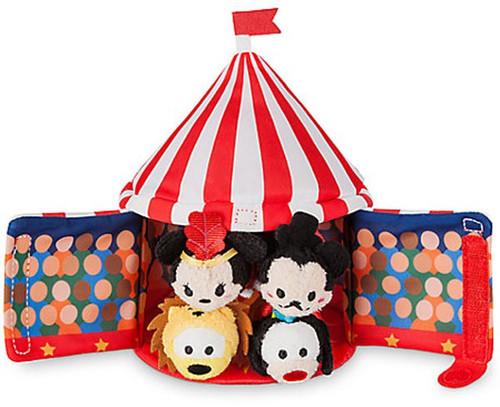 Disney Tsum Tsum Mickey Circus Mini Plush 4-Pack Set