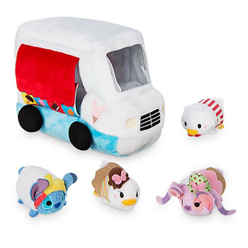 Disney Tsum Tsum Donald Duck Ice Cream Truck Mini Plush 4-Pack Set