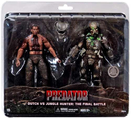 NECA Predator Dutch vs Jungle Hunter Exclusive Action Figure [The Final Battle, Damaged Package]