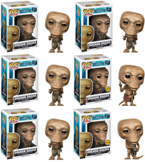 Funko Valerian POP! Movies Doghan Daguis Sealed Case of 6 Vinyl Figures #439 [4x Regular & 2x Chase Versions]