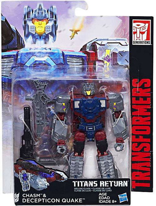 Transformers Generations Titans Return Chasm & Decepticon Quake Deluxe Action Figure [Damaged Package]