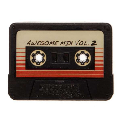 Marvel Guardians of the Galaxy Awsome Mix Vol.2 Cassette Tape Lapel Pin Apparel
