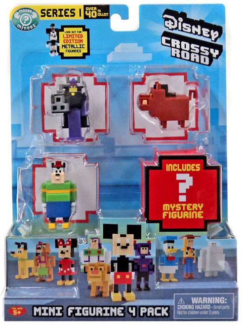 Crossy Road Disney Series 1 Zurg, Pete, Pumbaa & Mystery Figure Mini Figure 4-Pack