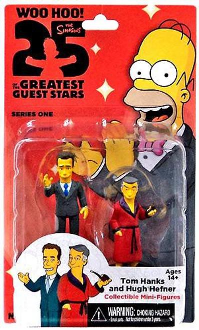 NECA The Simpsons Greatest Guest Stars Series 1 Tom Hanks & Hugh Hefner 3-Inch Mini Figure 2-Pack