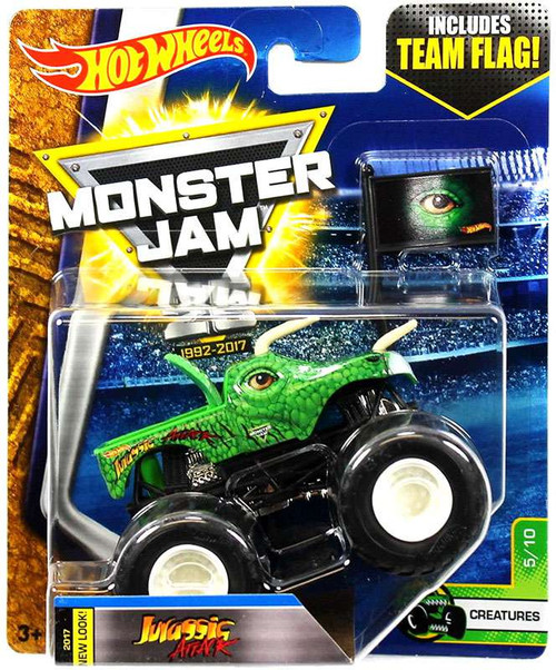 Hot Wheels Monster Jam 25 Jurassic Attack Die-Cast Car #5/10 [Creatures]