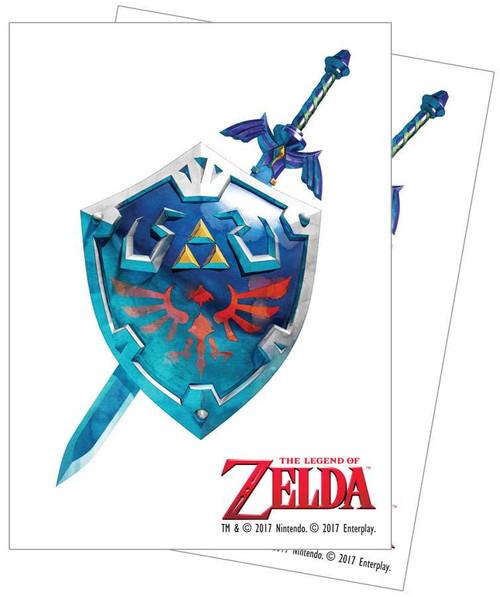 Ultra Pro Card Supplies Legend of Zelda Sword & Shield Standard Card Sleeves [65 Count]