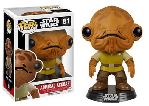 Funko The Force Awakens POP! Star Wars Admiral Ackbar Vinyl Bobble Head #81 [EP7, Damaged Package]