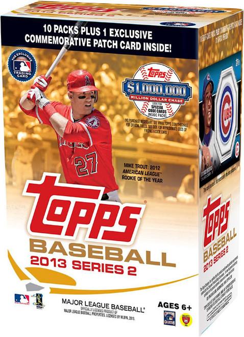 MLB Topps 2013 Series 2 Baseball Trading Card BLASTER Box [10 Packs + 1 Patch Card!]