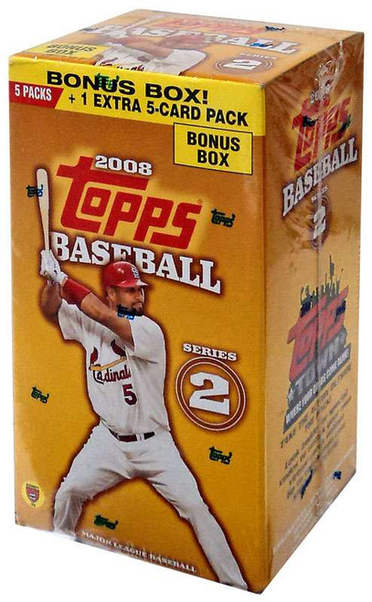 MLB Topps 2008 Baseball Cards Series 2 BONUS Box