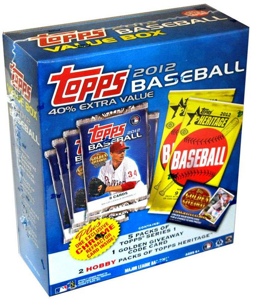 MLB Topps 2012 Baseball Trading Card MEGA Box