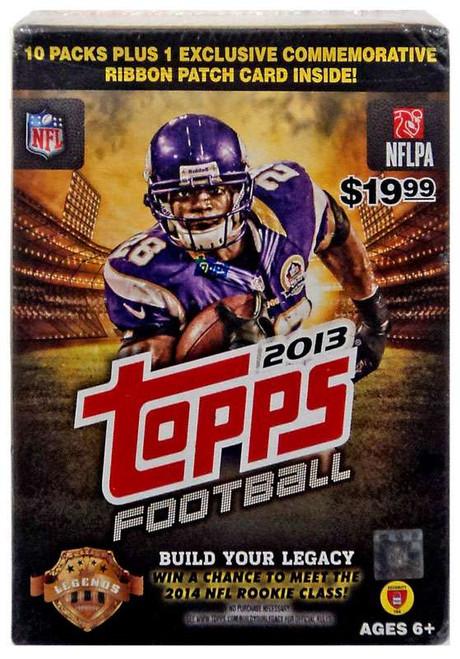 NFL Topps 2013 Football Trading Card BLASTER Box [10 Packs + 1 Commemorative Ribbon Patch Card!]