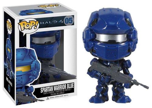 Funko Halo 4 POP! Halo Spartan Warrior Blue Vinyl Figure #05 [Damaged Package]